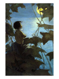 He Looked Up at the Broad Yellow Moon and Thought That She Looked at Him Prints by Jesse Willcox Smith