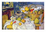 Still Life with Fruit Basket Posters by Paul Cézanne