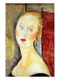 Portrait De Germaine Survage Prints by Amedeo Modigliani