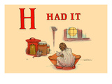 H - Had It Print by Kate Greenaway