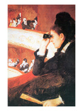 In the Opera Affiches par Mary Cassatt