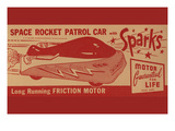 Space Rocket Patrol Car Prints