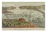 Birds-Eye View of Manhattan, New York Print