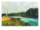 The Banks of the Oise Poster by Alfred Sisley