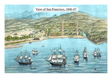 View of San Francisco, Formerly Yerba Buena, in 1846-7. before the Discovery of Gold Premium Giclee Print by  Bosqui & Co