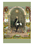 Symbols Masonic - Washington as a Master Mason Premium Giclee Print by  Duval