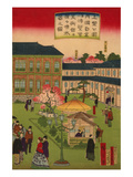 Second National Industrial Exhibition at Ueno Park 3 Poster von Utagawa Hiroshige