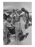 Impoverished Family Prints by Dorothea Lange