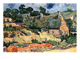 Shelters in Cordeville by Van Gogh Prints by Vincent van Gogh