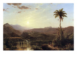 The Cordilleras - Sunrise Print by Frederic Edwin Church