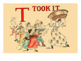T - Took It Print by Kate Greenaway