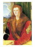 Portrait of an Unknown in Red Prints by Albrecht Dürer
