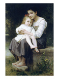 Big Sis Art by William Adolphe Bouguereau