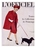 L&#39;Officiel, April 1960 - Ensemble de Lanvin Castillo en Stigaz de Lesur Art by Philippe Pottier