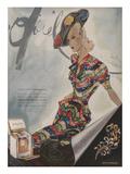 L'Officiel, June 1942 - Paquin, Bijoux de Mauboussin Poster von  Lbenigni