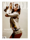 L&#39;Officiel, 2003 - Leticia Birkheuer, dans un Ensemble Tr&#232;s Tendance de L&#39;&#201;t&#233; Prints by Jeff Riedel