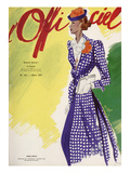 L'Officiel, March 1937 - Nina Ricci Manteau en Flamisol Double Face de Bianchini-Férier Prints by  Lbenigni