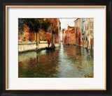 A Venetian Backwater Framed Giclee Print by Fritz Thaulow