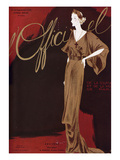 L'Officiel, September 1935 - Bruyere Fine Lame Premium Giclee Print