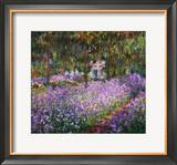 The Artist's Garden at Giverny, 1900 Framed Giclee Print by Claude Monet