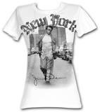 Juniors: James Dean - New York Walking T-shirty
