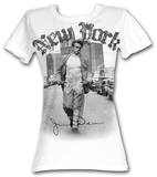 Juniors: James Dean - New York Walking T-Shirt