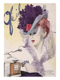 L'Officiel, January 1943 - Jules Blanchard Premium Giclee Print by  Lbenigni