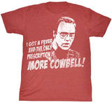 Saturday Night Live - Cowbell T-shirts