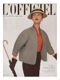 L'Officiel, March 1951 - Ensemble de Christian Dior Posters af Philippe Pottier