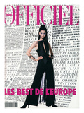 L&#39;Officiel, December 1992-January 1993 - Annelise, dans un Ensemble de Claude Montana Posters by Jonathan Lennard &amp; Bernhard Winkelmann