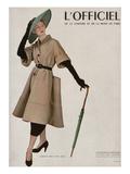 L'Officiel - Christian Dior, Tissu Lesur Plakater av Philippe Pottier