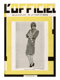 L'Officiel, June 1928 - Mlle Lily Damita Premium Giclee Print by  Madame D'Ora