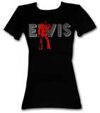 Juniors: Elvis Presley - Retro Elvis Shirts