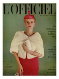L'Officiel, October 1961 Premium Giclee Print by Roland de Vassal