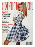 L'Officiel, April-May 1992 - Christian Dior: Robe en Mousseline et Organ Premium Giclee-trykk av  Hiromasa