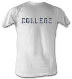 Animal House - Distressed College - White T-Shirt