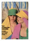 L'Officiel, 1976 - Créations de Nina Ricci Boutique, Visières Aux Couleurs  Premium Giclee Print by Rodolphe Haussaire