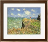 Cliff Walk at Pourville, 1882 Framed Giclee Print by Claude Monet