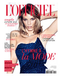 L'Officiel, May 2011 - Angela Lindvall Prints by Thomas Nutzl