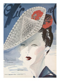 L'Officiel, February 1940 - Rose Valois Premium Giclee Print by  Lbenigni
