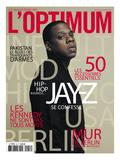 Jay-Z en couverture du Magazine de l'Optimum, novembre 2009 Art par Patrick Swirc