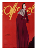 L'Officiel, January 1938 - Madeleine Vionnet Premium Giclee Print by  Lbenigni