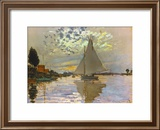 Monet: Sailboat Framed Giclee Print by Claude Monet