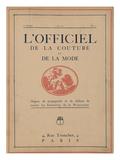 L'Officiel, 1921 Prints