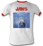 Jaws - Poster Red Ringer T-Shirt