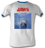 Jaws - Poster Blue Ringer Shirts