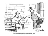 """I've heard mitigating things about you!"" - New Yorker Cartoon Premium Giclee Print by Mike Twohy"