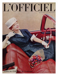 L'Officiel, April 1959 Premium Giclee Print by Philippe Pottier