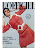 L'Officiel, March 1969 - Pierre Cardin, Tailleur en Tweed de Leleu Premium Giclee-trykk av Patrick Bertrand