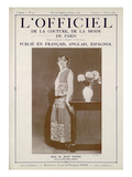 L&#39;Officiel, July-August 1923 - Mlle Madge Derny, Robe de Jean Patou Posters by  O&#39;Doy&#233;